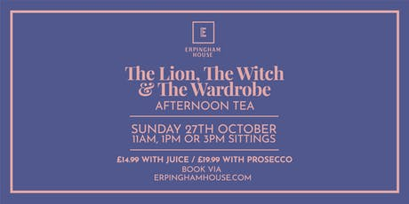 The Lion, The Witch and The Wardrobe Afternoon Tea tickets