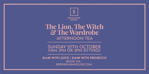 The Lion, The Witch and The Wardrobe Afternoon Tea