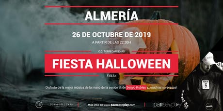 Fiesta Halloween con Sergio Robles en Pause&Play Torrecárdenas entradas