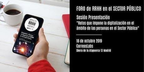 Sesión de Presentación en Madrid del Foro de RRHH del Sector Público entradas