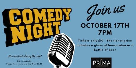 PRIMA Comedy Night tickets