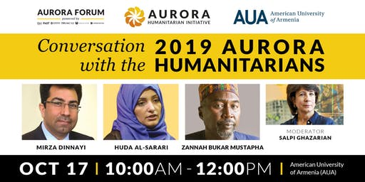 Conversation with the 2019 Aurora Humanitarians at AUA