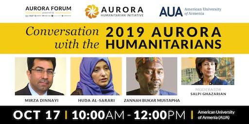 Conversation with the 2019 Aurora Humanitarians at AUA