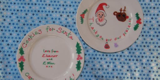 Thankyou Santa!  Make-a-Plate. Family Friendly Craft at the Pub.