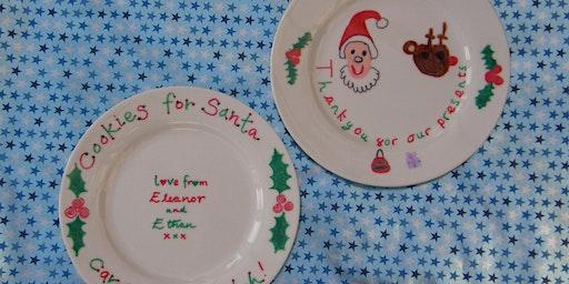 Thankyou Santa!  Make-a-Plate. Family Friendly Craft at the Pub.