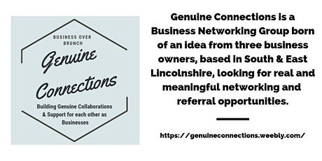 Genuine Connections Networking - Business Over Brunch (Boston UK) tickets