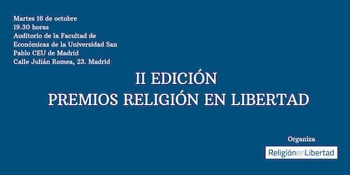 II edición Premios Religión en Libertad 2019