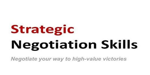 Training on Strategic Negotiations and conflict resolutions