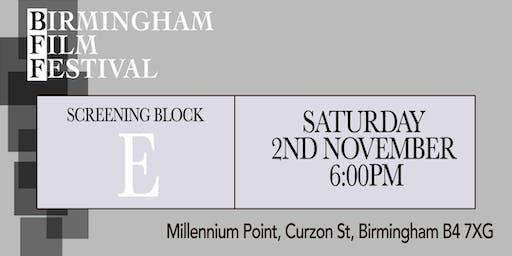 BIRMINGHAM FILM FESTIVAL - Screening Block E