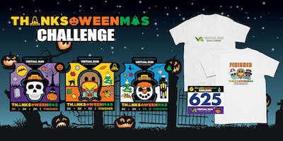 2019 - Thanks-Oween-Mas Virtual 5k Challenge - Garland