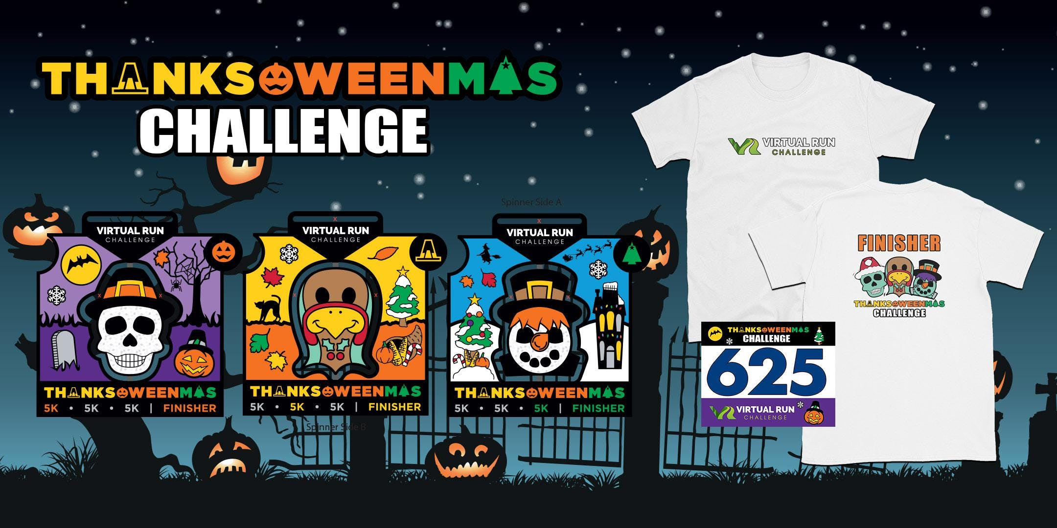 2019 - Thanks-Oween-Mas Virtual 5k Challenge - Glendale