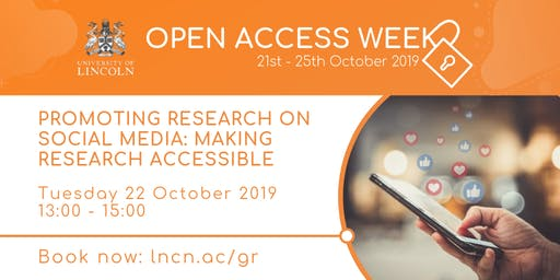Promoting Research on Social Media: Making Research Accessible (Open Access Week)