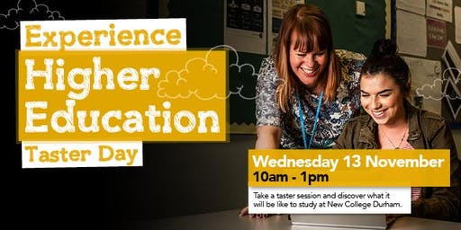 Experience Higher Education Taster Day