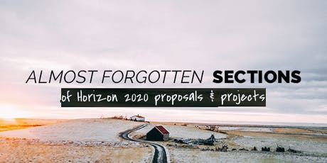 """""""Almost forgotten"""" sections of Horizon 2020 proposals & projects webinar tickets"""