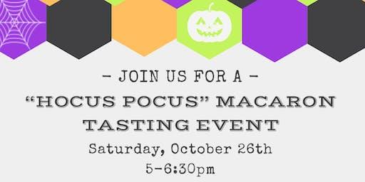 Hocus Pocus Macaron Tasting Event
