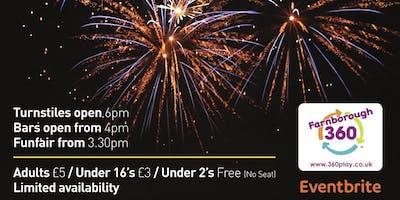 Farnborough Football Club Fireworks Display, Fun Fair & Disco - LIMITED AVAILABILITY