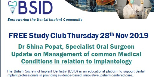 Update on Management of common Medical Conditions in relation to Implants