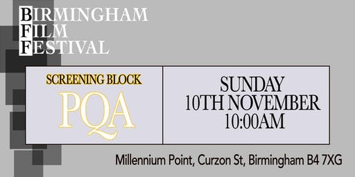 BIRMINGHAM FILM FESTIVAL - Screening Block Z: PQA Special Event
