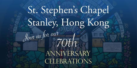 St Stephen's Chapel 70th Anniversary Celebratory Dinner tickets