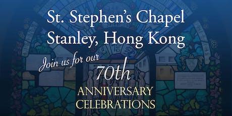 St Stephen's Chapel 70th Anniversary Celebratory Dinner tickets