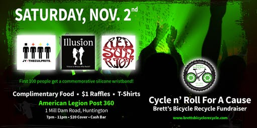 Cycle n' Roll For A Cause - Brett's Bicycle Recycle Fundraiser