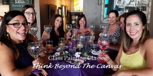 Wine Glass Painting Class at Memorial Wine Cellar 10/26 @2pm
