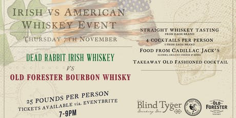 Irish VS American Whiskey Event tickets