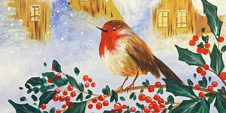 Little Robin Paint, Pies & Prosecco Brush Party - Ashtead tickets