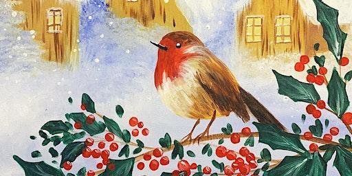 Little Robin Paint, Pies & Prosecco Brush Party - Ashtead