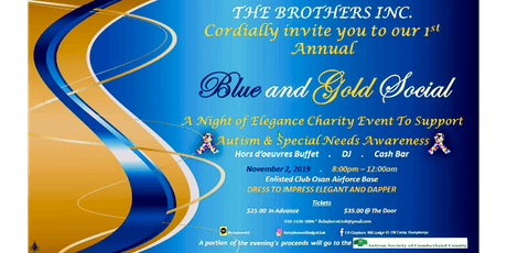 Blue and Gold Charity Social for Autism Awareness tickets