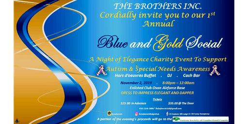 Blue and Gold Charity Social for Autism Awareness