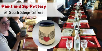 Paint & Sip Pottery at South Stage Cellars!