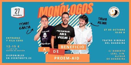 Monólogos a beneficio de PROEM-AID entradas