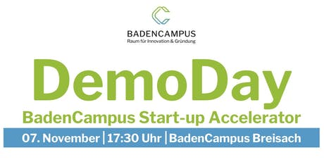 DemoDay BadenCampus Start-up Accelerator 2019 Tickets