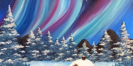 Northern Lights 'Paint, Pies & Prosecco' Brush Party - Wokingham tickets