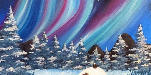 Northern Lights 'Paint, Pies & Prosecco' Brush Party - Wokingham