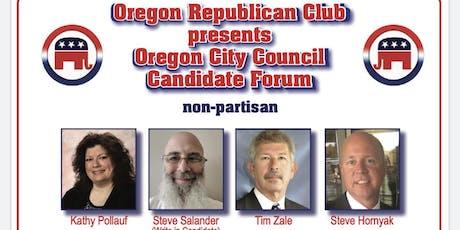 Oregon City Council Canditate Forum tickets