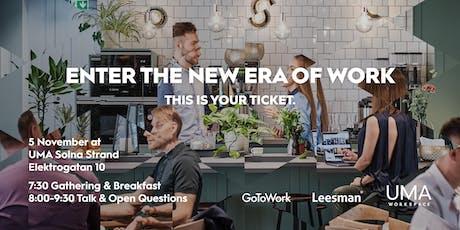 Leesman, UMA Workspace & GoToWork 5 Nov tickets