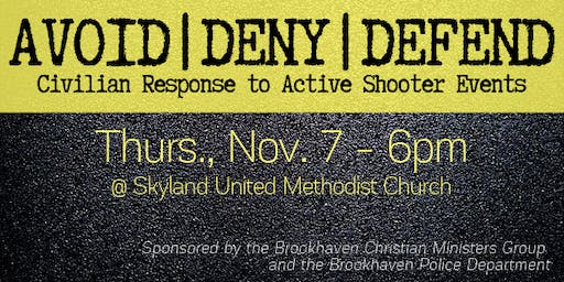 Avoid | Deny | Defend: Civilian Response to Active Shooter Events