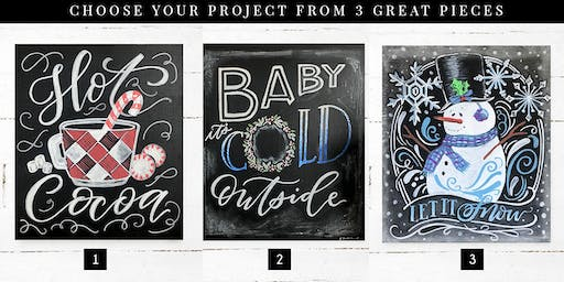 Christmas Chalkboard Art Workshop