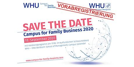 WHU Campus for Family Business 2020 - Vorabregistrierung Tickets