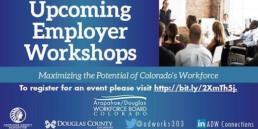 Employer Workshop Series for October 2019