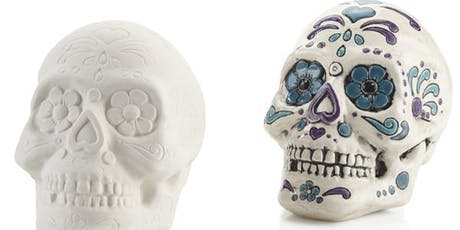 Sugar Skulls Coin Bank Painting for Kids (by Artsy Hive)  tickets