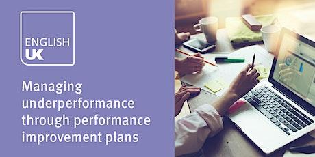 Managing underperformance through Performance Improvement Plans - London, 2 April tickets