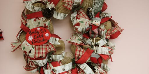 Baby It's Cold Outside Wreath - BYOB