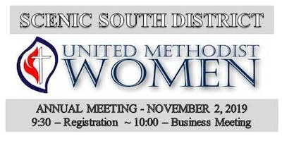 Annual Meeting of the Scenic South District United Methodist Women