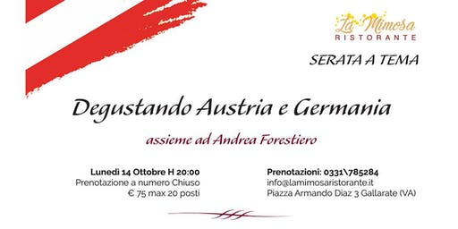 Degustando Austria e Germania, serata a tema