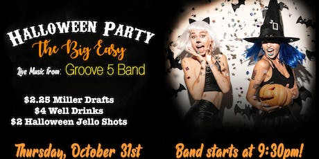 HALLOWEEN PARTY!! At The Big Easy NC with Groove5 Band tickets