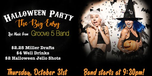HALLOWEEN PARTY!! At The Big Easy NC with Groove5 Band