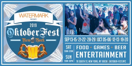 OktoberFest NYC 2019 at Watermark tickets